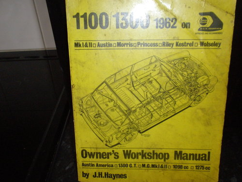 1967 AUSTIN / MORRIS WORKSHOP MANUAL For Sale (picture 1 of 1)