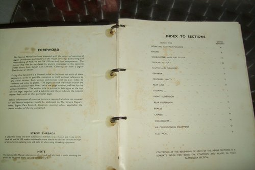1967 ORIGINAL JAGUAR XK FACTORY WORKSHOP MANUAL  For Sale (picture 3 of 6)