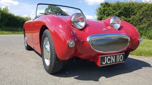 1958 Austin Healey Frogeye Sprite Mk1. Cherry Red.  RHD SOLD (picture 1 of 6)