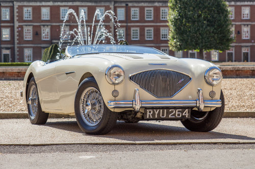 1955 Austin Healey 100   UK RHD, Ivory White SOLD (picture 1 of 6)