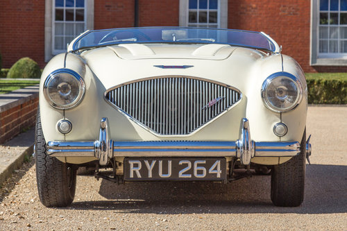 1955 Austin Healey 100   UK RHD, Ivory White SOLD (picture 2 of 6)