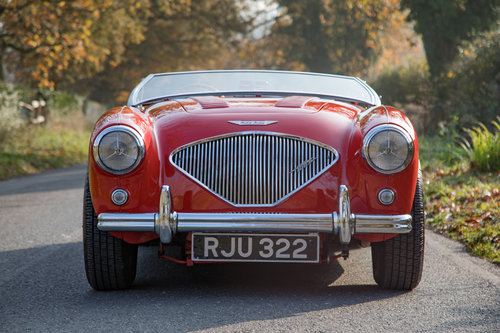 1955 Austin Healey 100 BN1 | UK RHD, Carmine Red SOLD (picture 1 of 6)