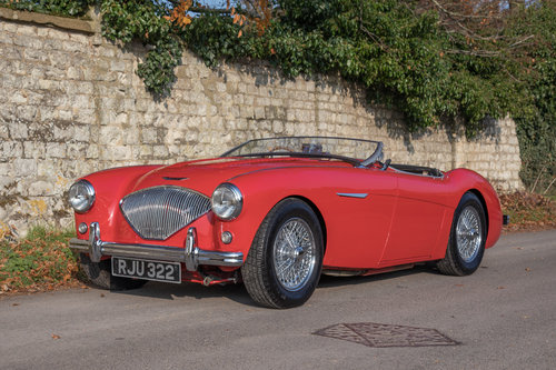 1955 Austin Healey 100 BN1 | UK RHD, Carmine Red SOLD (picture 2 of 6)