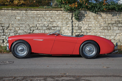 1955 Austin Healey 100 BN1 | UK RHD, Carmine Red SOLD (picture 3 of 6)