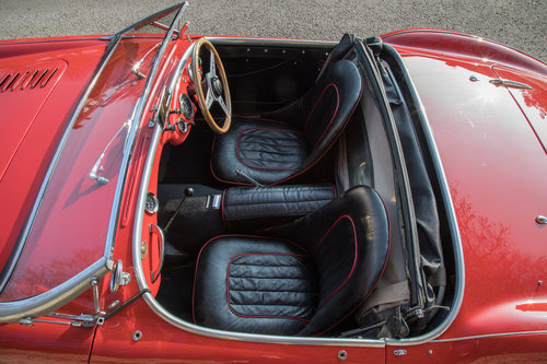 1955 Austin Healey 100 BN1 | UK RHD, Carmine Red SOLD (picture 5 of 6)