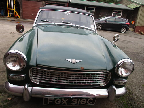 1965 Green Austin Healey Sprite Project For Sale (picture 1 of 3)
