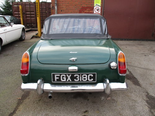 1965 Green Austin Healey Sprite Project For Sale (picture 2 of 3)