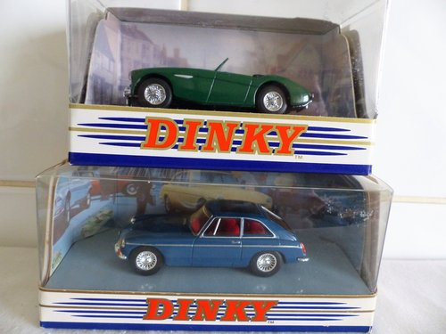 MGB GT & AUSTIN HEALEY  100 BN2-DINKY MODELS For Sale (picture 1 of 6)