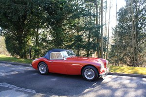 Austin Healey 100/6 BN4 2+2, 1958. Wire wheels. 4 Speed + OD