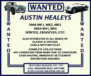 WANTED! AUSTIN HEALEY Wanted