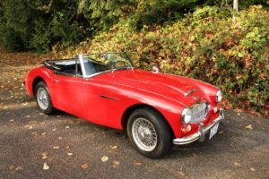 1966 Austin Healey 3000 MK III BJ 8 = LHD Solid Red Driver $59.9k For Sale