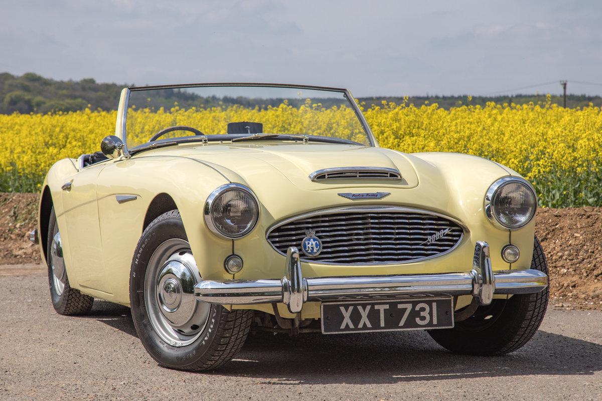 1959 Austin Healey 3000 MkI   Rare Primrose Yellow, UK RHD SOLD (picture 1 of 6)