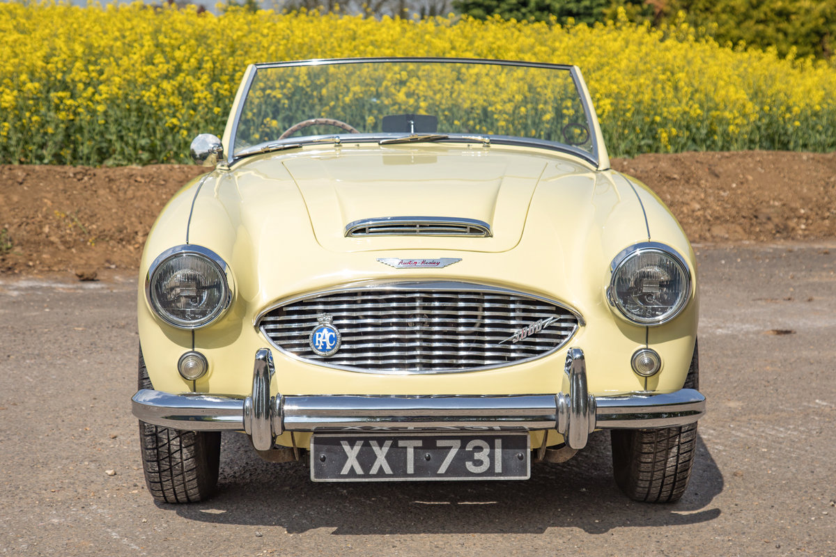 1959 Austin Healey 3000 MkI   Rare Primrose Yellow, UK RHD SOLD (picture 2 of 6)