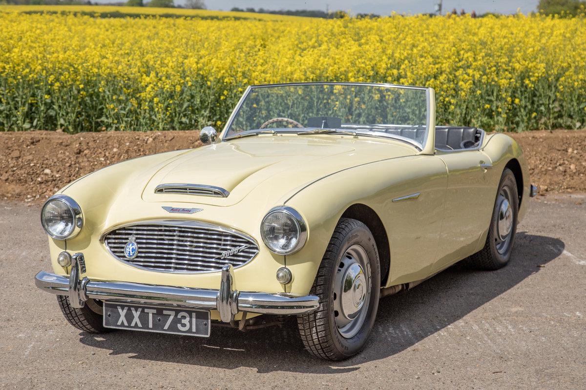 1959 Austin Healey 3000 MkI   Rare Primrose Yellow, UK RHD SOLD (picture 3 of 6)