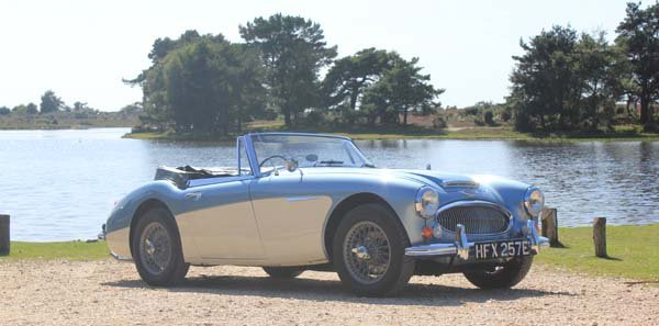 1967 Austin Healey 3000 Mk3 BJ8 in the New Forest