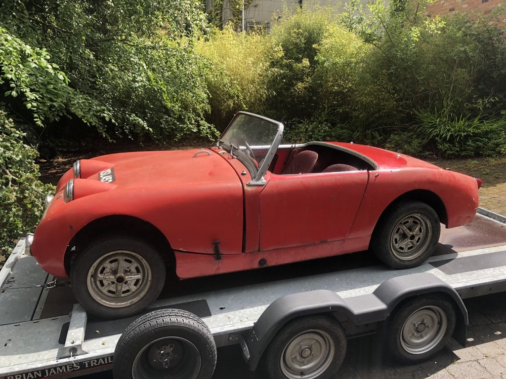1959 Austin Healey Frogeye Sprite Restoration Project For Sale (picture 1 of 6)