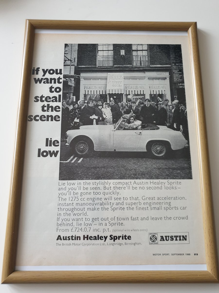 Original 1968 Austin Healey Advert For Sale (picture 1 of 1)