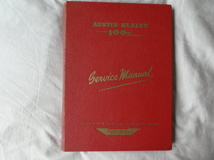 Workshop Manual Original Healey 100 1956  For Sale