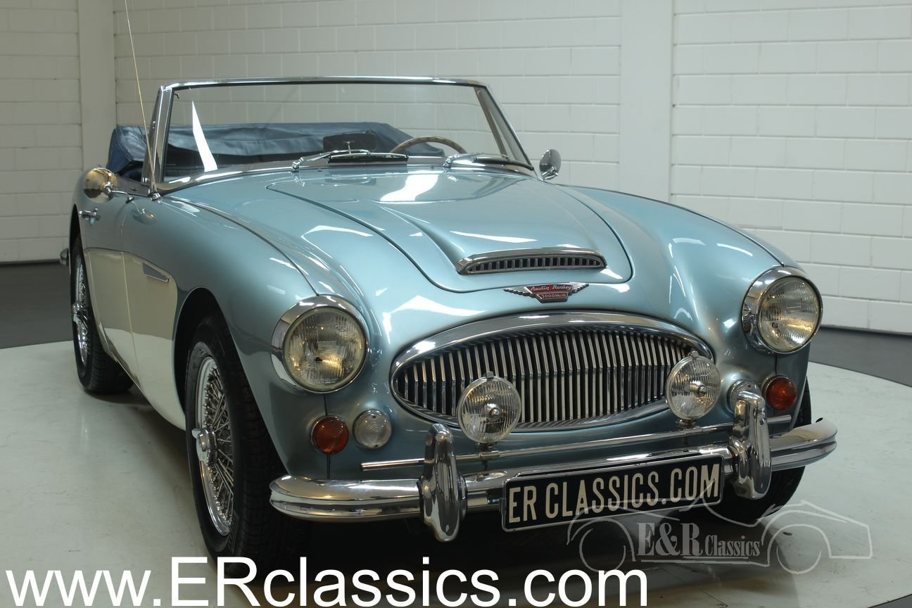Austin Healey 3000 Cabriolet 1967 MK3 (BJ8) Ice Blue  For Sale (picture 1 of 6)