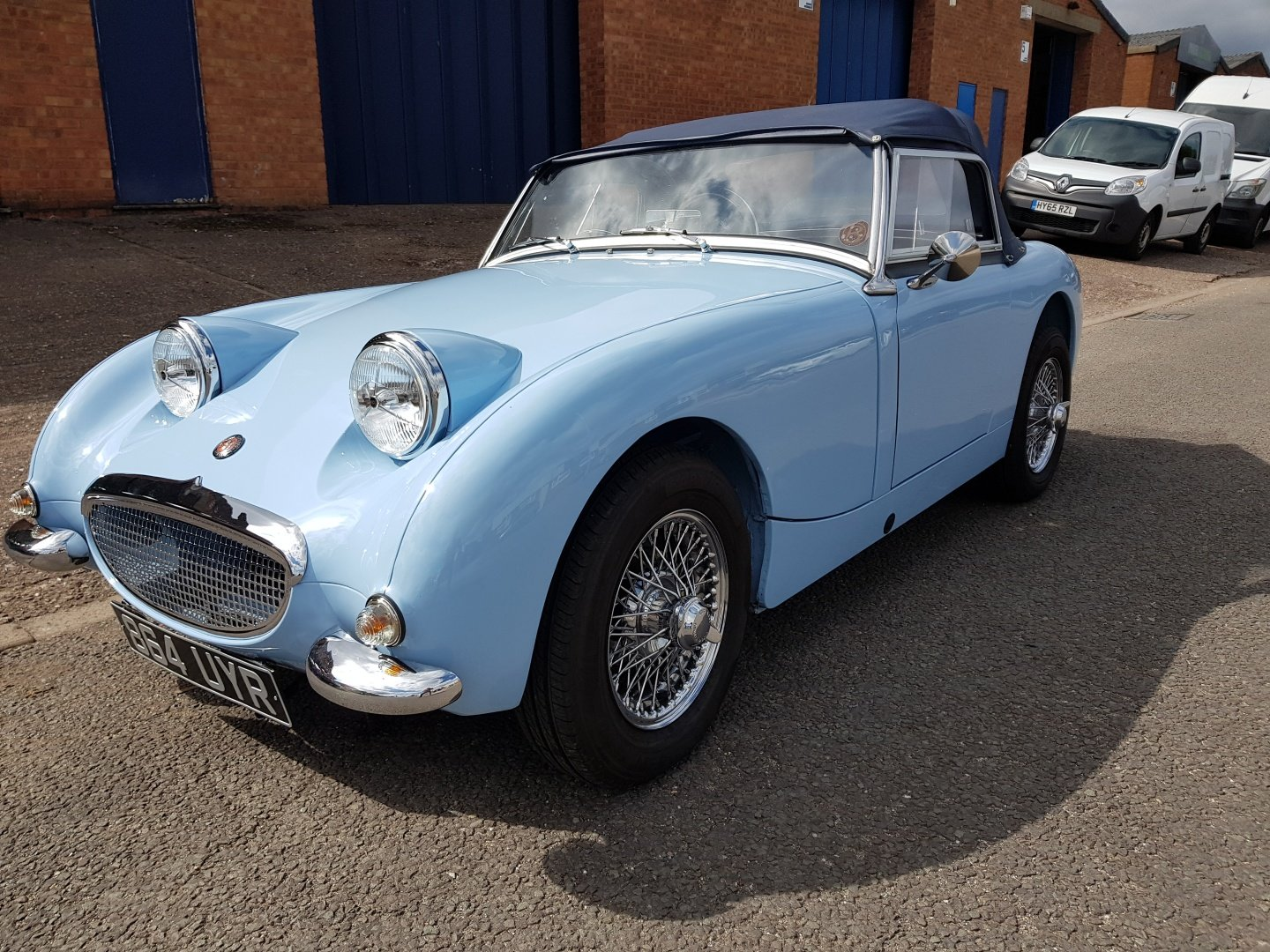Austin Healey Frog Eye Sprite 1960 1275 Iris Blue Stunning! SOLD (picture 2 of 6)