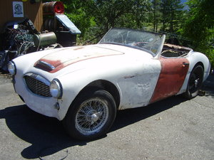 1960 Healey BT7, running overdrive project - solid frame