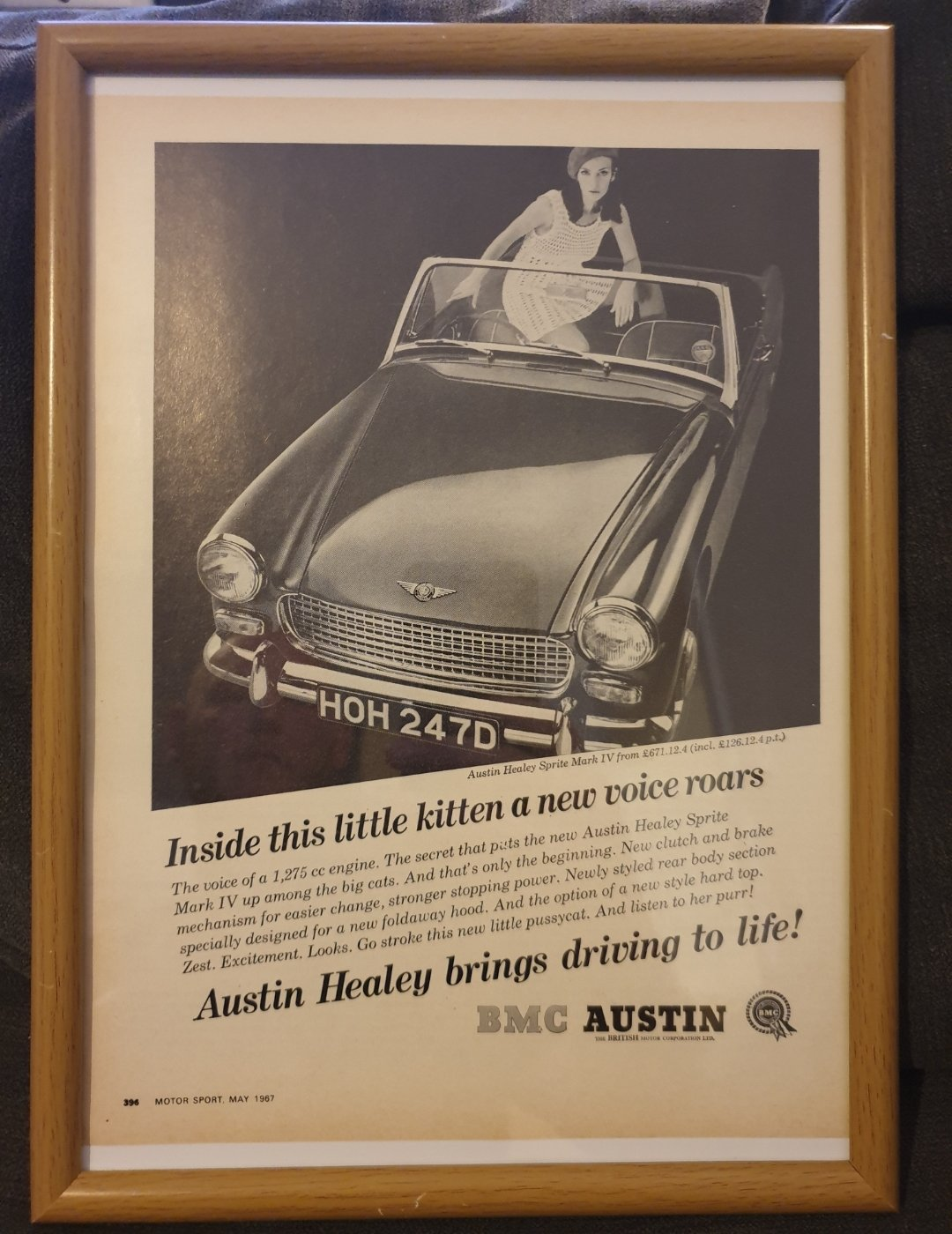 Original Austin Healey Sprite MK4 Advert For Sale (picture 1 of 2)
