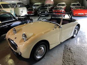 Austin Healey Frogeye Sprite,  1961.  Old English White For Sale