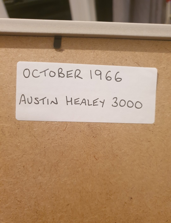 Original 1966 Austin Healey 3000 Framed Advert  SOLD (picture 2 of 2)