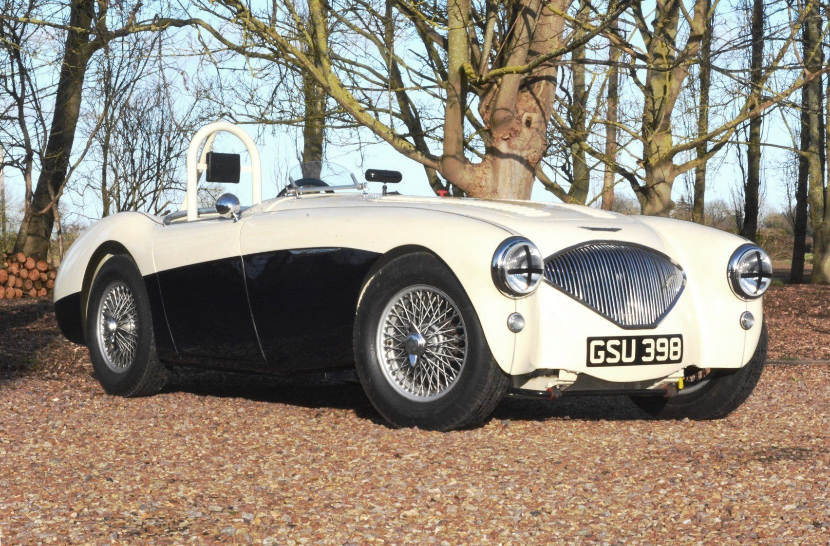 1954 Immaculate Healey 100 Race Car. Rebuilt With New Chassis. For Sale (picture 1 of 6)