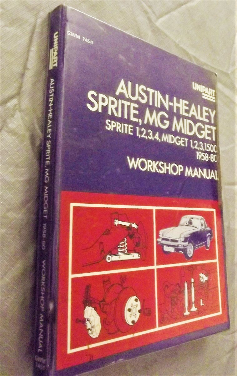 0000 AUSTIN-HEALEY FROGEYE UNIPART WORKSHOP MANUAL For Sale (picture 1 of 4)