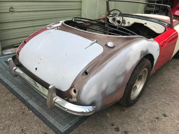1958 Austin healey 3000 rust free chassis and body for full resto SOLD (picture 1 of 5)