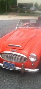 For sale Austin Healey with a V8 Ford engine fitted.