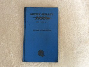 Picture of Austin Healey Drivers handbook