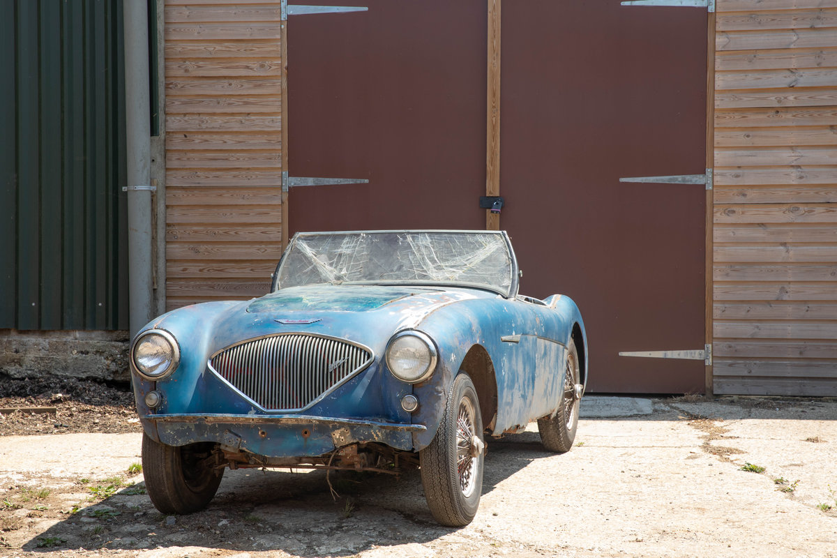 1955 Barn Find Austin Healey 100 | Original Healey Blue For Sale (picture 1 of 6)