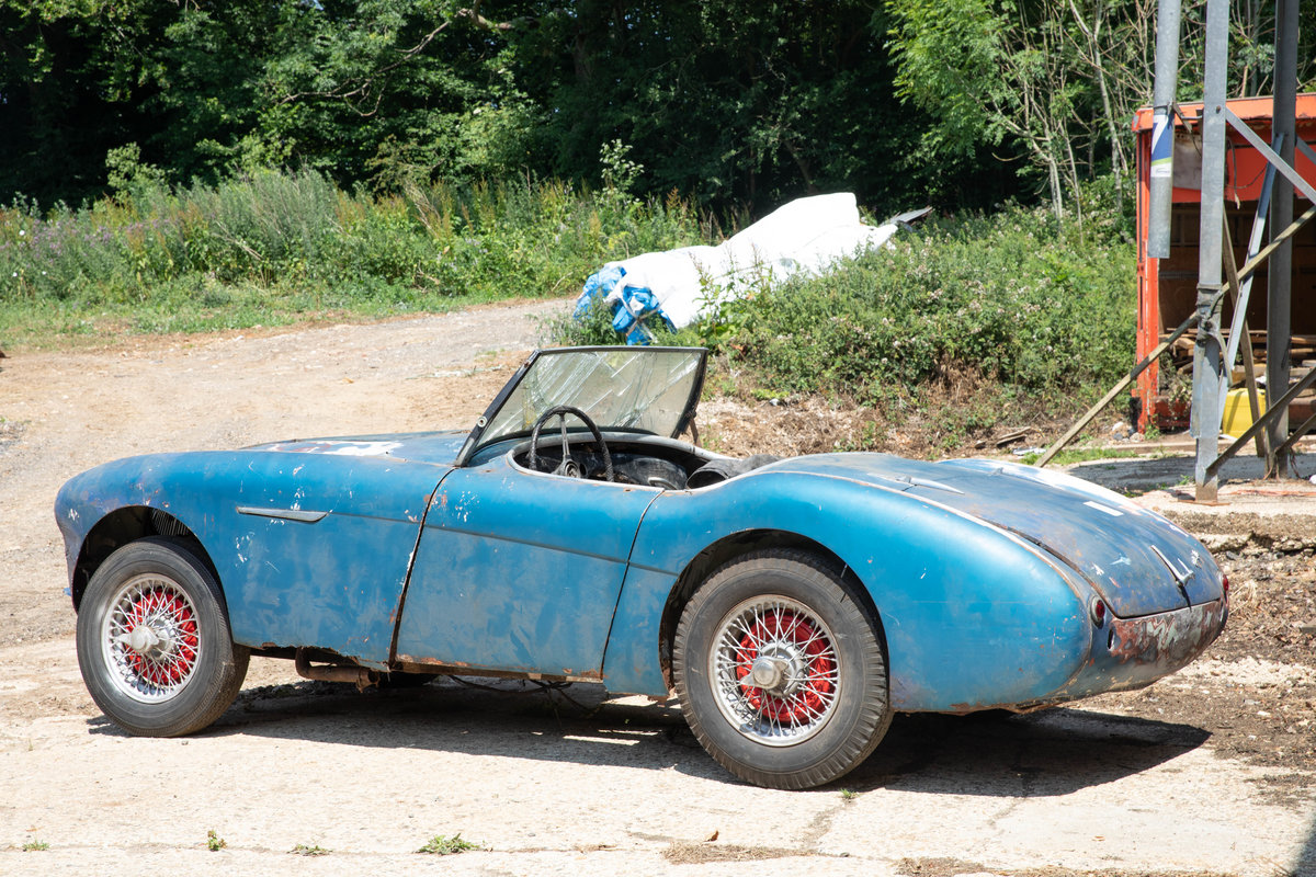 1955 Barn Find Austin Healey 100 | Original Healey Blue For Sale (picture 2 of 6)