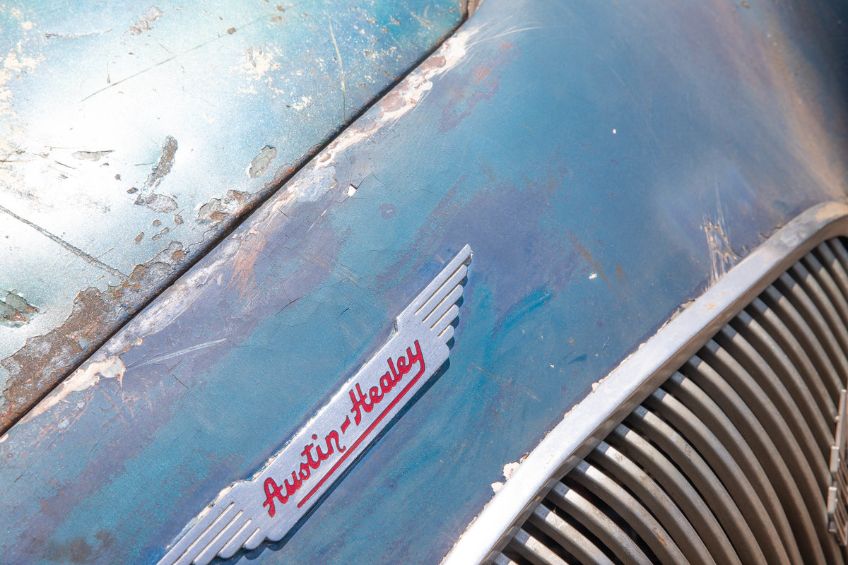 1955 Barn Find Austin Healey 100 | Original Healey Blue For Sale (picture 4 of 6)