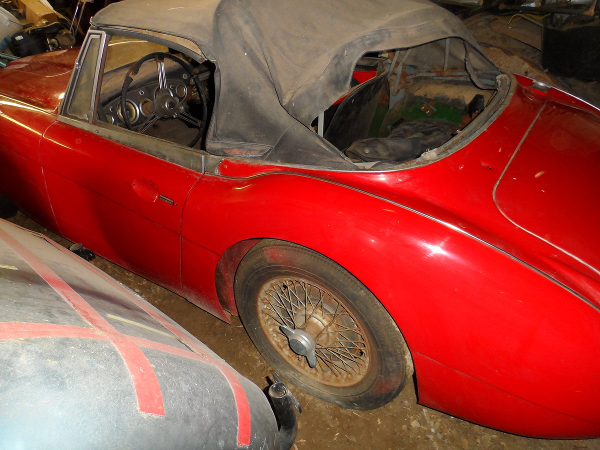 1963 Austin Healey 3000 repainted rust free car For Sale (picture 4 of 6)