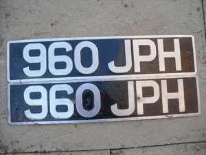 960JPH Number Plate