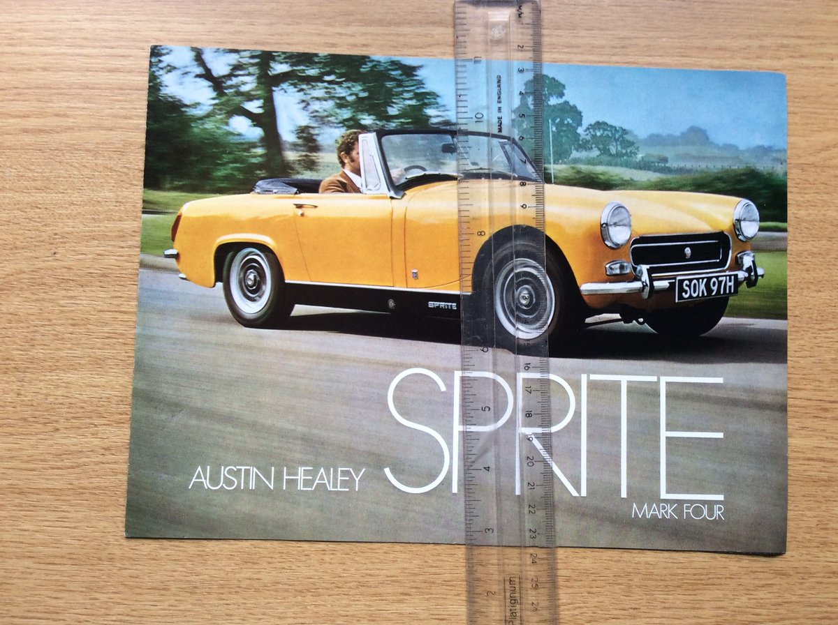 Austin Healey SALES BROCHURE SOLD (picture 1 of 1)