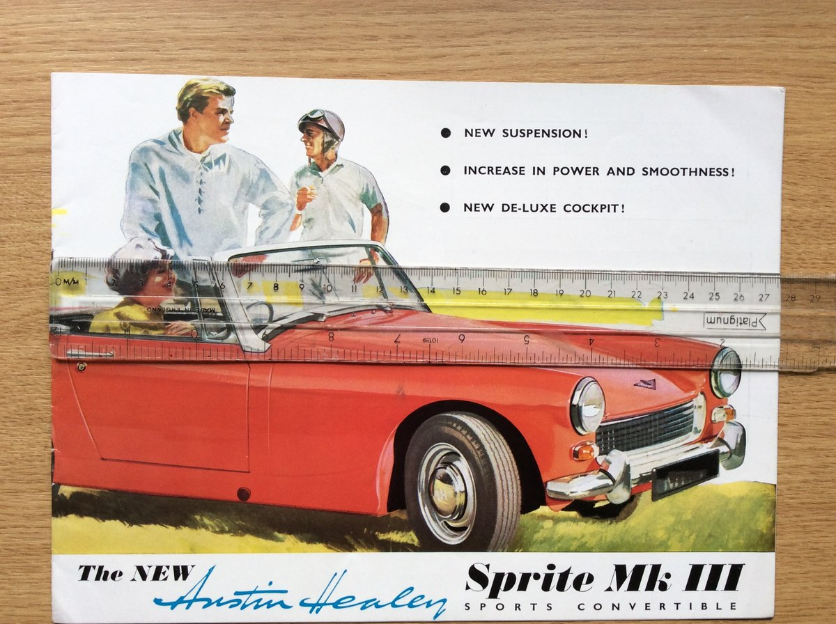 SUPERB Austin Healey SALES BROCHURE For Sale (picture 1 of 2)