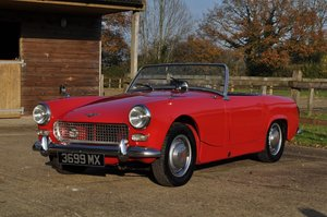 Picture of Austin Sprite 1962 with hardtop not MG Midget SOLD