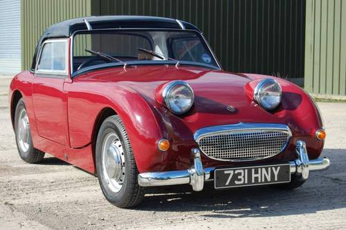 1960 Austin Healey Frogeye Sprite. Jersey Classic Hire. com For Hire (picture 1 of 6)
