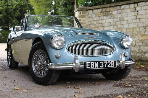 1964 Austin Healey 3000 MKIII BJ8 | Healey Blue and Ivory SOLD (picture 1 of 6)