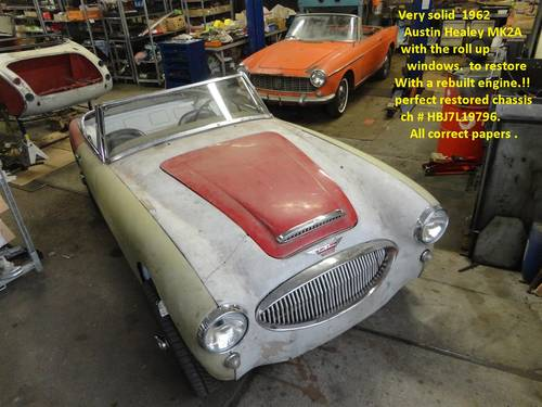 1959 Austin Healey 100/6 red '59 For Sale (picture 5 of 6)