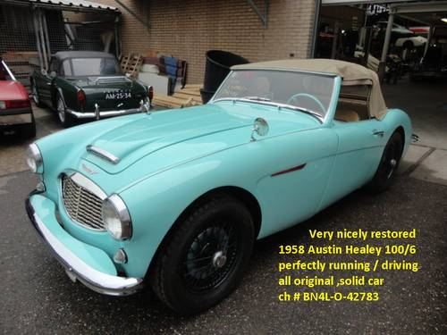 1959 Austin Healey 100/6 red '59 For Sale (picture 6 of 6)