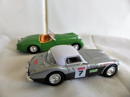 1960 STIRLING MOSS AUSTIN HEALEY 3000 & JAGUAR XK 120 For Sale (picture 2 of 6)