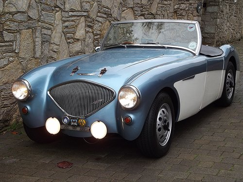 1956 AUSTIN HEALEY 100/4 SPORTS CONVERTIBLE Evocation SOLD (picture 1 of 6)