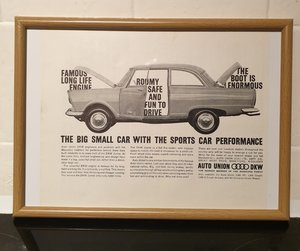 DKW Junior Framed Advert Original