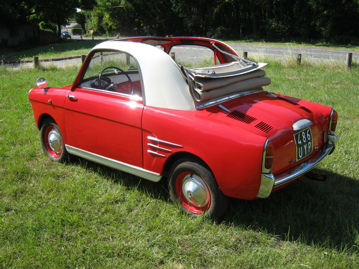 1958 AUTOBIANCHI BIANCHINA TRASFORMABILE 'S'. SUICIDE DOORS For Sale (picture 3 of 6)