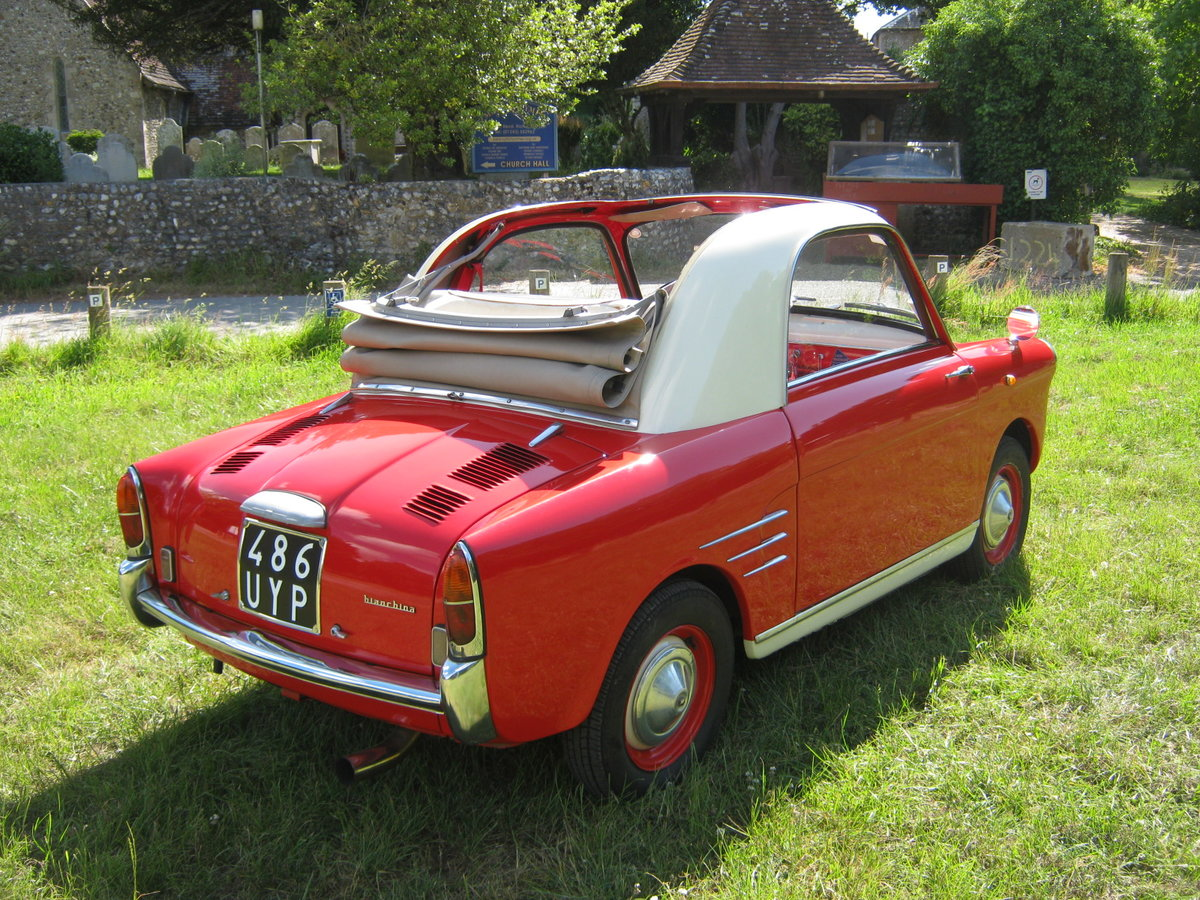 1958 AUTOBIANCHI BIANCHINA TRASFORMABILE 'S'. SUICIDE DOORS For Sale (picture 4 of 6)